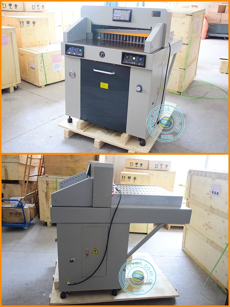 Digital pneumatic industrial guillotine cnc automatic motor insulation ideal paper cutter cutting machine germany price for sale