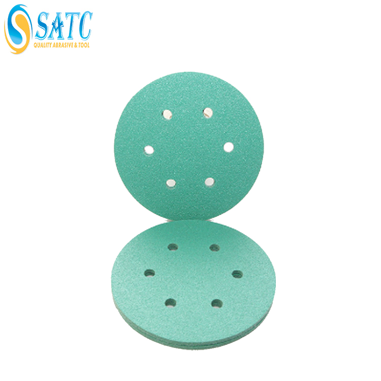 Stick abrasive hook loop polishing sanding discs