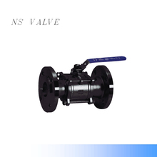 WCB 3 pieces flange types ball valve