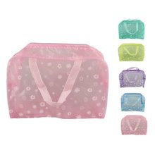 Multipurpose Floral PVC basics fashion travel eco beauty cosmetic bag