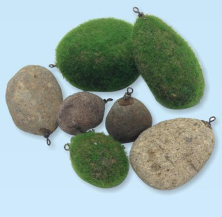 Natural carp fishing stone sinker
