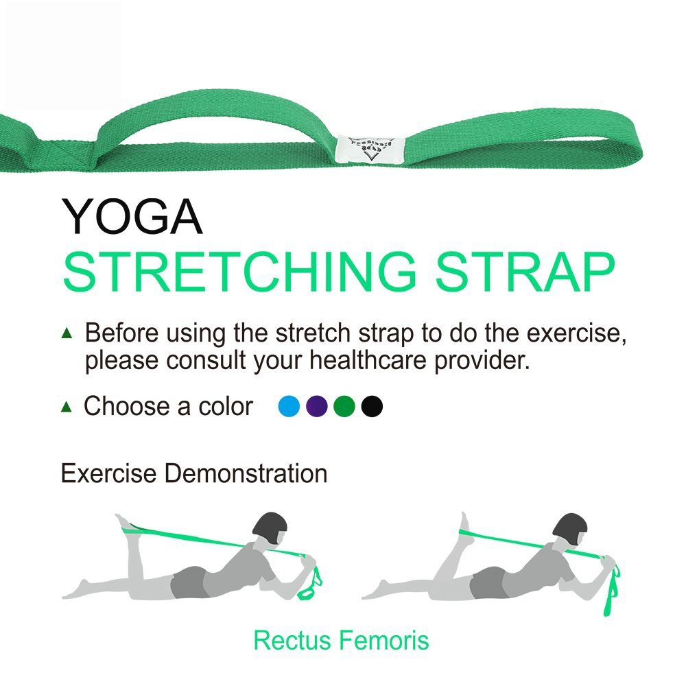 Stretch Strap With Multi Loop Exercise For Physical Therapy Yoga Dance Pilates Greater Flexibility