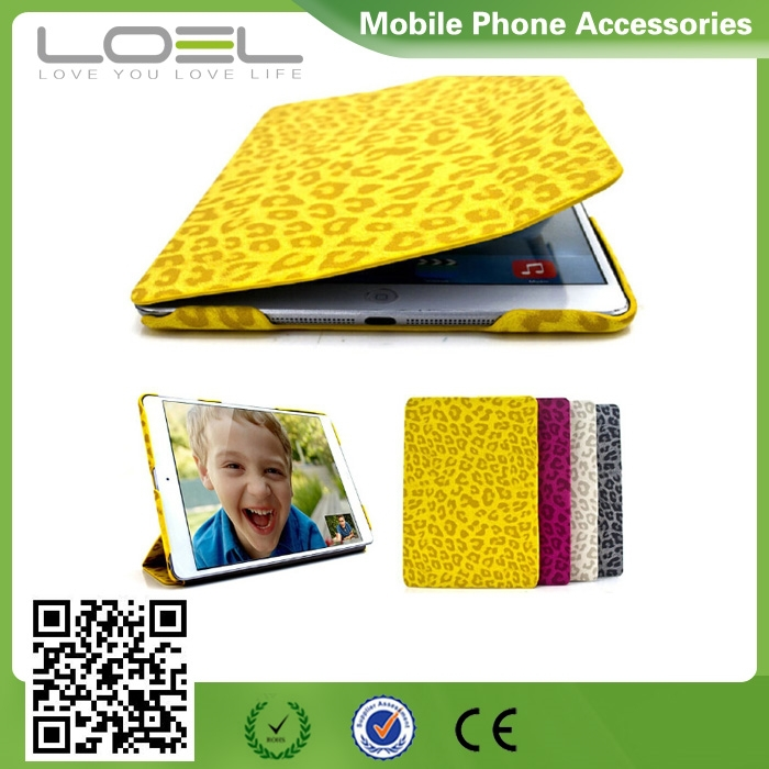 Newest Elegant Appearance Leopard Printed Leather Case for iPad Air 2