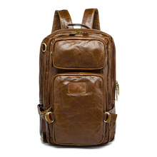 Top Grain Men Leather Travel Backpack Leather Backpack 8856