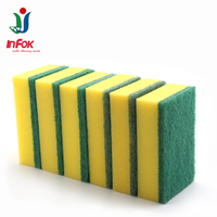 Heavy duty abrasive magic sponge scouring pad for kitchen cleaning