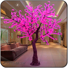 Holiday Lighting H 2.5m Pink color LED christmas sakura tree