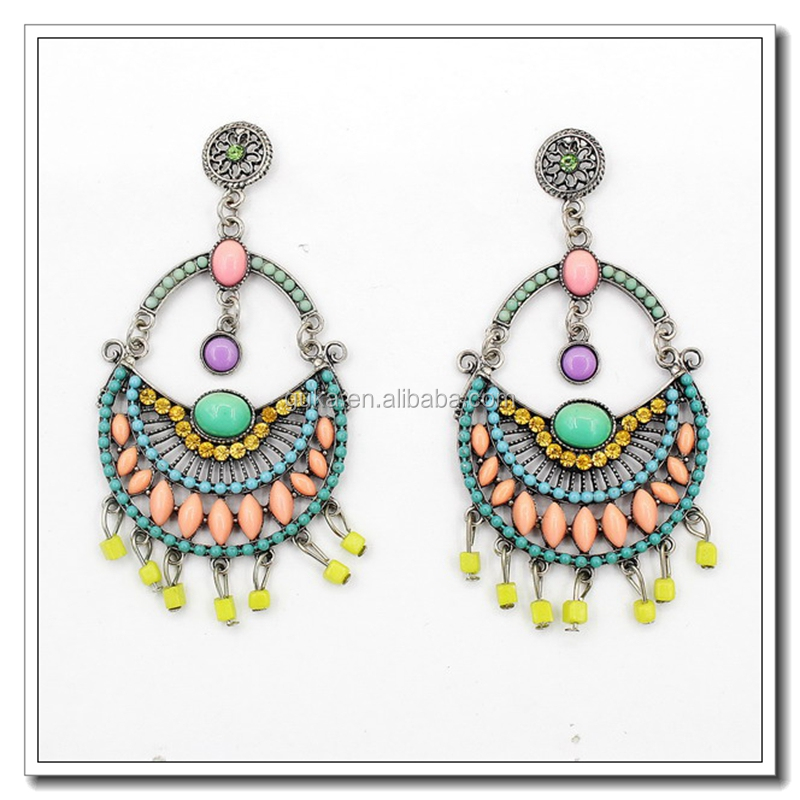 Excellent Material Wholesale Duplicate Jewelry,Beaded Tassel Earrings