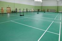 Eco friendly customized 3.5mm~12mm badminton court pvc
