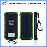 CE approved high capacity mobile phone solar battery power bank charger