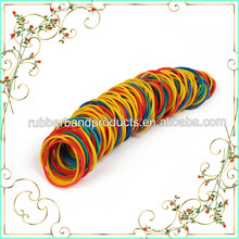 Strong Elastic Multi Coloured Rubber Bands For Office Stationery Craft