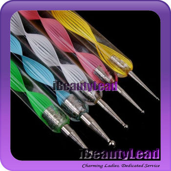 Hot sale nail dotting tools nail art pens 2 way nail dotting pen sets