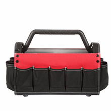 FREE SAMPLE FATORY PRICE wholesale Open Tool Bag Tote with Rotating Handle Storage Toolbox Portable Box