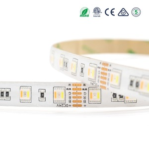 IP65 silicon glue waterproof outdoor use DC24v 5in1 RGBWW led strip light