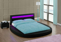 4 Colour Remote LED Head Double Size PU Leather Attractive Price Round Bed 1835-1