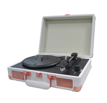 Best seller brown suitcase old retro vinyl record player turntable player recorder for crosley