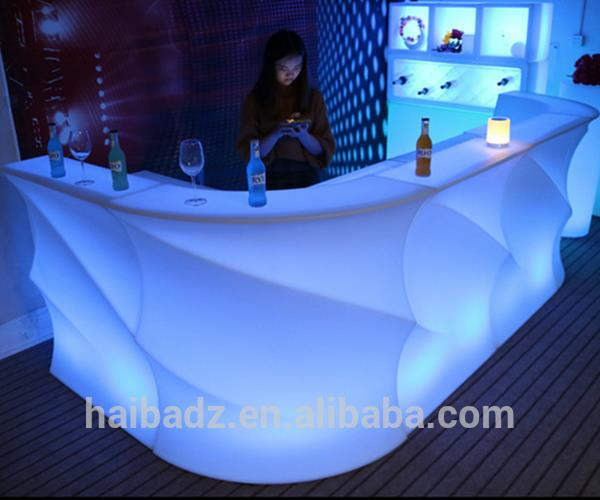 bar furniture 2017model <strong>U</strong> shaped led lighted illuminated bar counter furniture