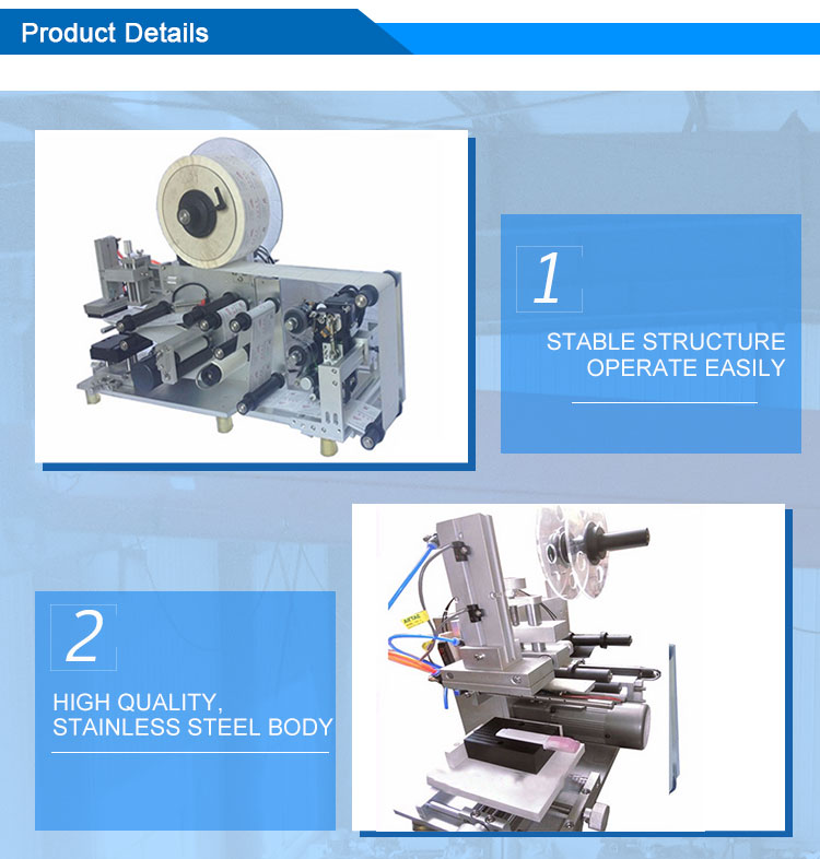 semi auto flat labeling machine 3