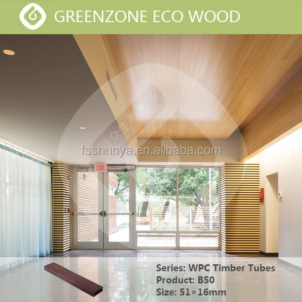Greenzone WPC/Wood PVC Composite Material Outdoor Decorative Timber Logs Tube