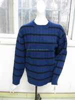 100% Wool computer knitted sweater cable pullover for men's wear