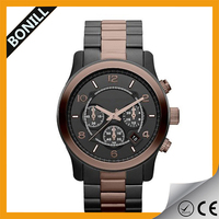 Men Multifunction stainless steel back watch case 316l 10 atm