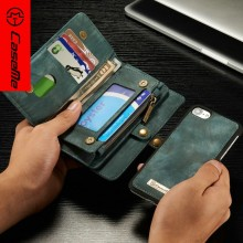 CaseMe New product Leather Case Folding Flip PC+PU With Standing for iPhone wallet case
