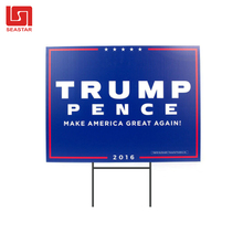 Custom yard sign with stake manufacturer