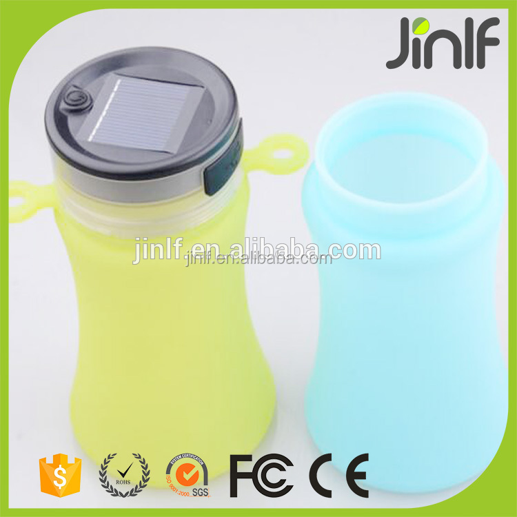 silicon reusable water bottle and Flexible Silicon Sports Water Bottle running water bottle