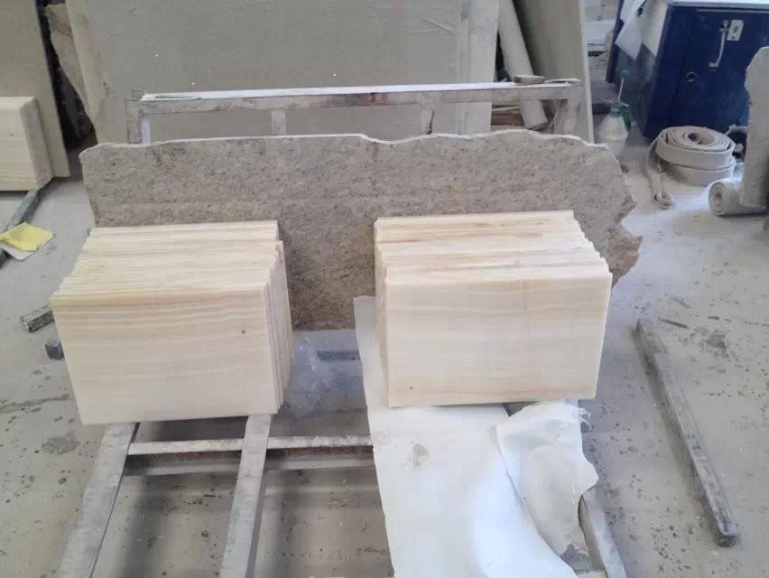 Amber Onyx Slabs : Polished white amber onyx slabs buy