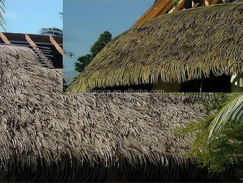 Imitated faux palm leaf thatched roofing tile