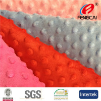 Fengcai Minky Dot Blanket Fabric For