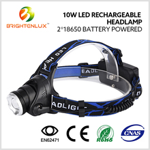 Factory Supply Lamp Head Adjustable 10W T6 Led Light Rechargeable headlamp