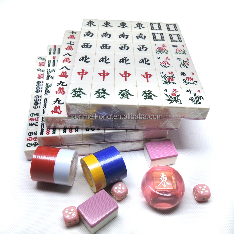 3.6cm high-grade classical gift mahjong sets with 144 tiles