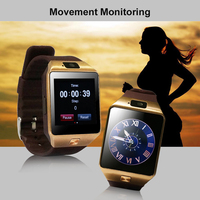 YUNTAB SW01 Watch Camera Touch Screen for iPhone Samsung HTC LG Android Phone Smartphone, support SIM card solt (Brown)