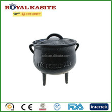 hot sale cast iron potjie pot, enamel three legs casting iron pots, iron fire pot,