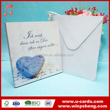 OEM profession Music type handmade decoration Mother's day greeting cards