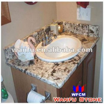 Top Mount Sink With Granite Vanity Top