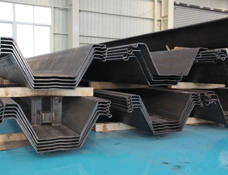 W profile 750-900mm cold rolled coated plate pile