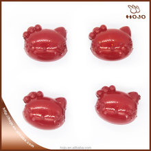 Hello Kitty Plastic bead for kids DIY string of bead Red 14x11mm 16pcs