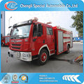 FAW 6000 liters fire truck water capacity