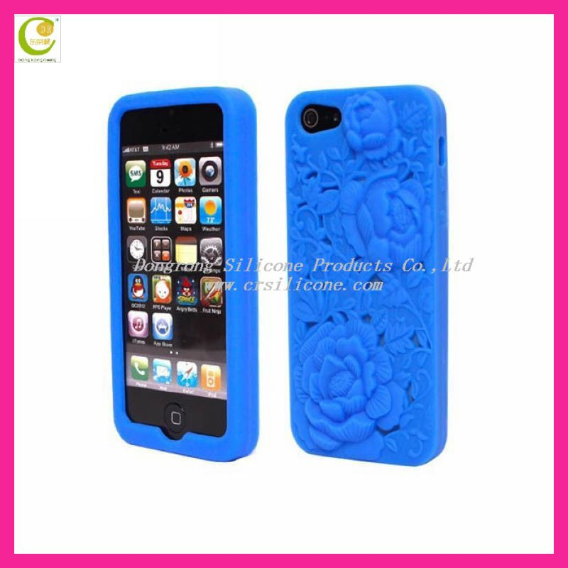 Customised 2D/3D stitch cute silicone case for iphone5
