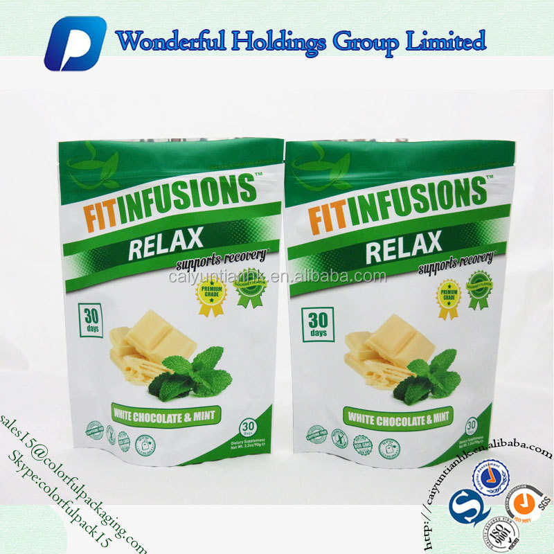 custom printed stand up pouch plastic frozen food bags packaging for food