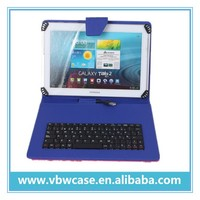 high quality 10.1 inch universal tablet keyboard case for android tablet PC with USB keyboard