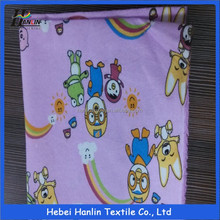 100% Polyester Flower Printed Flannel Fabric/Flannel Fleece