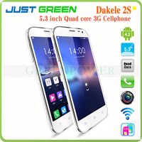 2014 New Arrival 5.3 Inch DAKELE 2S MC002 Android 4.2 MTK6589T Quad Core 1.5GHz GPS 1280*720 HD Screen 2G/3G 32GB Mobile Phone