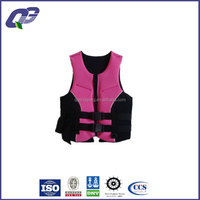 Pink neoprene safety life jacket for girls