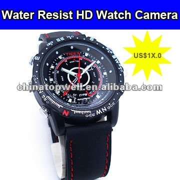 1280*960 HD AVI Water Resist Digital Watch Camcorder