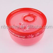 3 in 1 Microwavable Food Container Plastic with Locking Lid