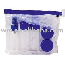 Environmental hot PVC cosmetic gift bag with ziplock top
