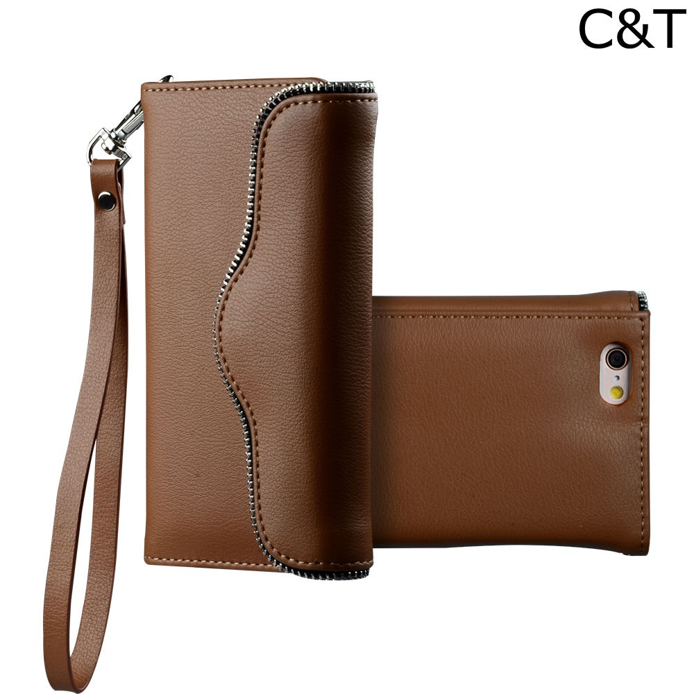 C&T PU Leather Ladies' Purse Wallet Case Stand Phone Cover for Apple iPhone 6(4.7)