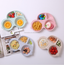 Biodegradable Child Bamboo Fiber Tableware Dinnerware Sets